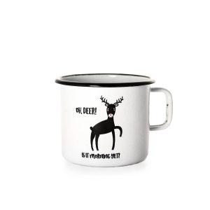 Oh Deer! Is It Morning Yet? - Emajliran Lonček