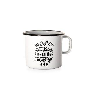 Mountains Are Calling - Emajliran Lonček