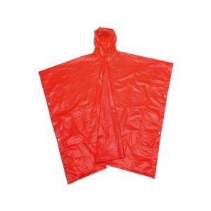 Poncho dežna palerina rdeča