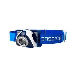Ledlenser SEO7R naglavna polnilna svetilka - modra