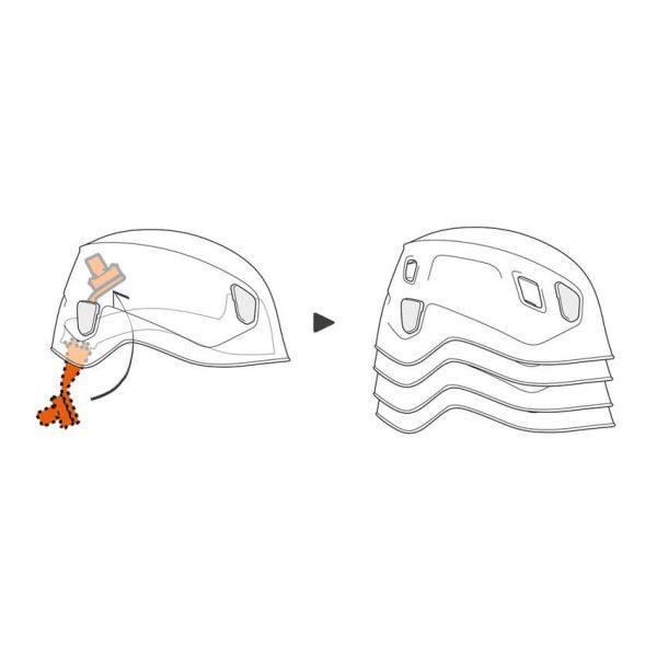 Petzl plezalna čelada Panga bela