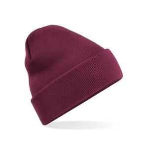 Klasična pletena zimska kapa - burgundy
