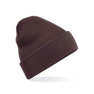 Klasična pletena zimska kapa - čokolada