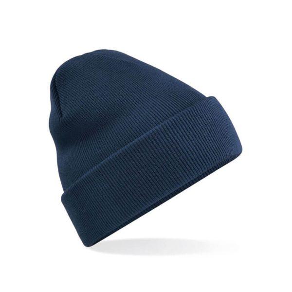 Klasična pletena zimska kapa - temno modra
